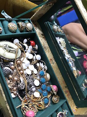 $ CDN58.39 • Buy VINTAGE ESTATE JUNK DRAWER JEWELRY LOT W Old Jewelry Box Approximately 6 Lbs