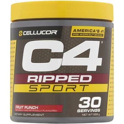 AU34.99 • Buy Cellucor C4 Ripped Sport Pre Workout Fruit Punch 30 Servings 255g