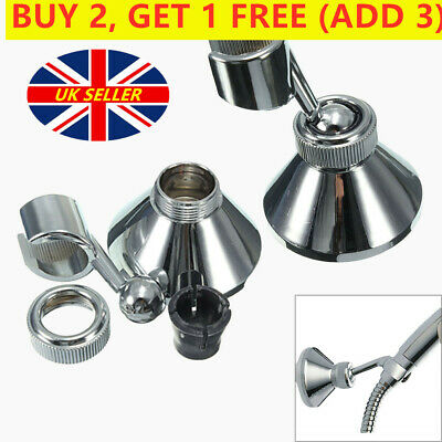 Shower Handset Head Holder Chrome Bathroom Wall Mounted Adjustable Bracket UK • 3.22£