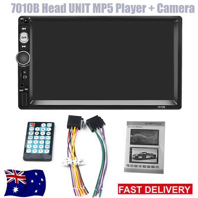 AU59.99 • Buy 7'' Double 2DIN Touch Car Stereo Radio MP5 MP3 Player Head Unit Bluetooth+Camera