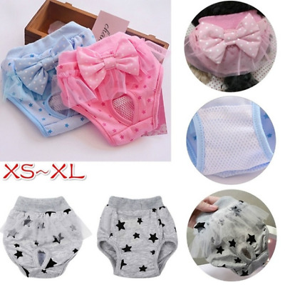 Dog Physiological Pants With Bowknot Cotton Puppy Pet Underwear Shorts Diapers • 5.19£