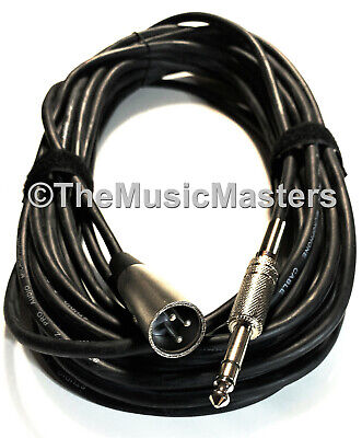 $ CDN20.82 • Buy 30ft 1/4  To XLR (M) Instrument Guitar Keyboard Amp Mixer Audio Cable Cord Wire