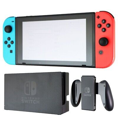 AU402.39 • Buy Nintendo Switch 32GB Console Bundle With Red And Blue Joy-Cons (HAC-001)
