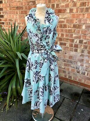 £25 • Buy Jessica Howard Mint Green Floral Frill Fit & Flare Dress, UK Size 10