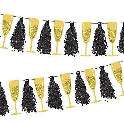3m Champagne Tassel New Years Eve NYE Hollywood 20's Gatsby Party Decoration • 8.32£