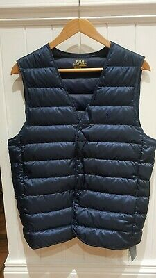 Ralph Lauren Polo Mens Performance Down-filled Gillet, Vest (small) - RRP £225 • 89.99£