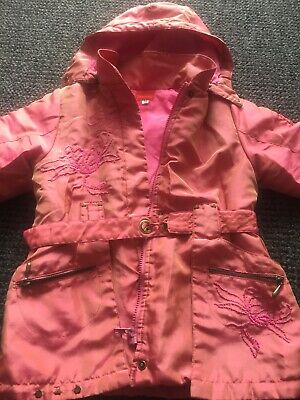 Marese Girls/childrens Pink Padded Hooded Designer Coat Age 4 Years Size 102eu • 7.49£