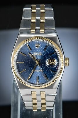 $ CDN3714.69 • Buy Rolex Datejust 36 Oysterquartz Gold/Steel RARE Patina Blue Like Lapis Lazuli AP