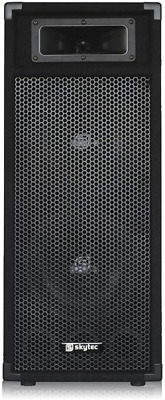Double 8  Passive PA Speaker 2 Way Bass System 500w Loud Mobile DJ Disco Party • 57.75£