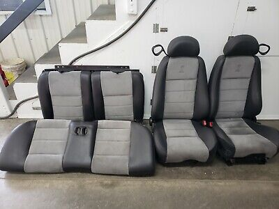 $1749.99 • Buy 2003 2004 Mustang Cobra Grey Suede Leather Seats Coupe OEM Rare