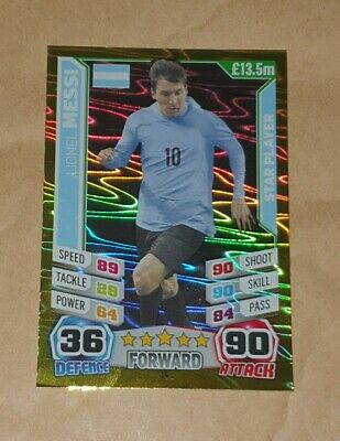 Lionel Messi - Argentina - Topps - Match Attax - World Cup 2014 • 1£