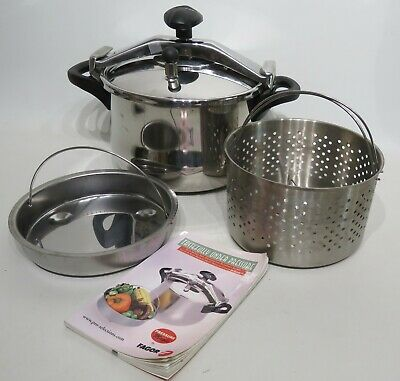FAGOR 8L Stainless Steel Stove Top/Induction Pressure Cooker Spain 18/10 SS • 56.20£