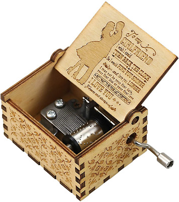 Uwows Vintage Wood Hand Crank Music Box You Are My Sunshine Gift For Familier • 13.48£