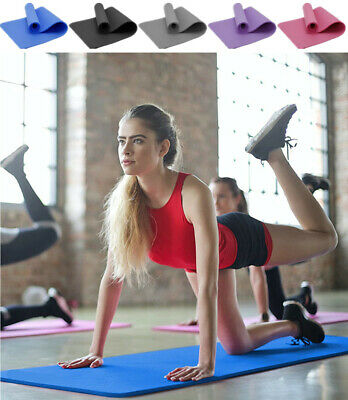 Yoga Mat Carrier Bag Gym Exercise Thick Fitness Pilates Mats Non Slip Cushioned • 9.99£