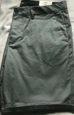 £12.99 • Buy Green Skinny Fit Chino Shorts Size W36