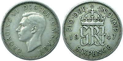 £1.29 • Buy Sixpence Uk Gb George Vi  Choose Your Date!     One Coin/buy!