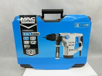 Mac Allister MSRH1200 Corded 230v SDS Hammer Drill 1200w New Sealed Box  • 43.01£