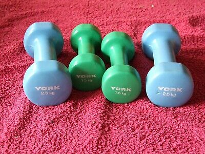 York Fitness Vinyl Fitbell Weights • 2.40£