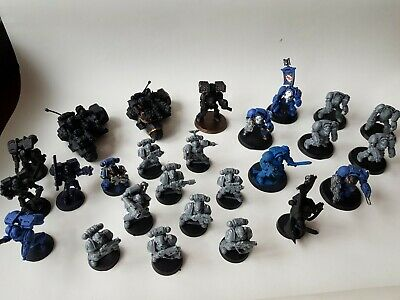 Big 26 Figure Bundle Warhammer Space Marines Mainly For Painting • 35£