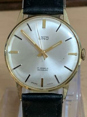 Gent's Vintage UNO, Gold-Plated Hand-Winding Watch. 17 Jewels Dress Watch • 70£