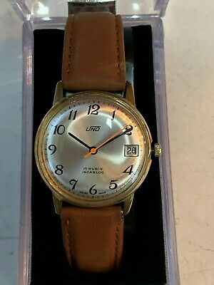 Gents Vintage Uno 17 Rubis Incabloc  Dress Watch  ST 96-4 In Associated Box • 90£