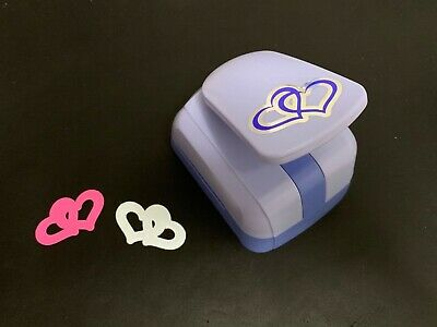 Large Woodware Silhouette Double Hearts 2 In 1 Craft Punch & Emboss Card Making  • 7.99£
