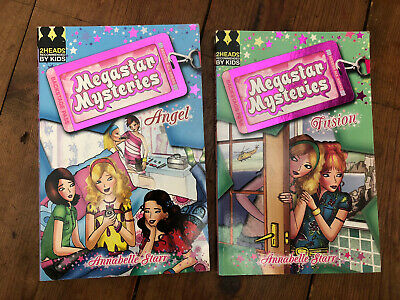 2 MEGASTAR MYSTERIES Books Angel And Fusion By Annabelle Starr • 1.50£