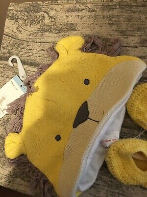 Baby Hat And Boots Lion Themed From John Lewis Colour Yellow • 5£
