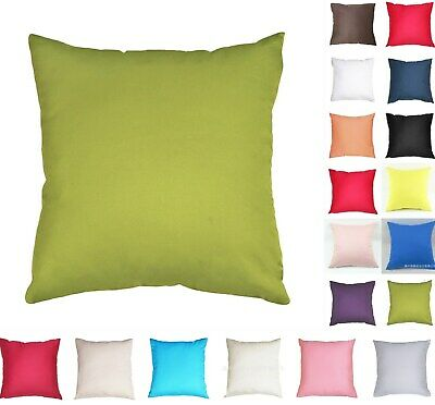 AU13.49 • Buy Plain Solid Colour Cushion Cover Cotton Covers Throw Pillow  Sofa Case Decor New