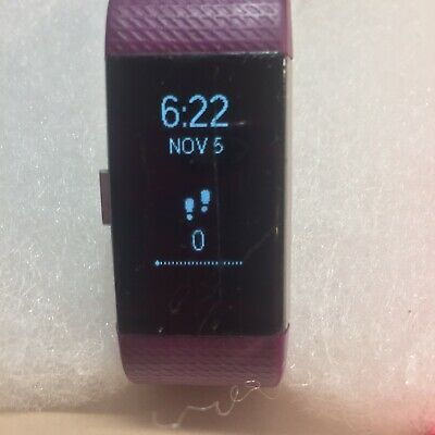 $ CDN12.96 • Buy Fitbit Charge 2 Wristband Activity Tracker + Charger Small Plum+Extra Band-Used
