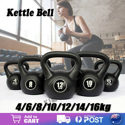 AU42.99 • Buy 4-14KG Kettlebell Kettle Bell Weight Exercise Home Gym Workout