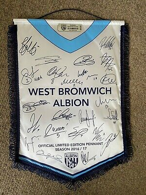 West Bromwich Albion Official Limited Edition Pennant. Season 2016/17. • 25£