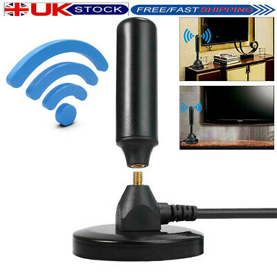 Magnetic Freeview Aerial Ariel TV Antenna Home Indoor Outdoor Digital DVB-T2 Kit • 10.70£