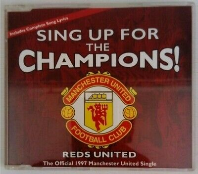 Reds United – Sing Up For The Champions! - CD Single - Manchester United 1997 • 0.66£