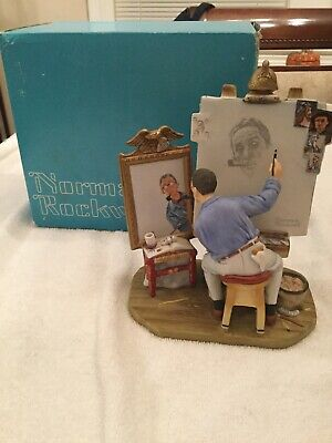 $ CDN27.90 • Buy Gorham Norman Rockwell Self Portrait Saturday Evening Post 1978 In Original Box