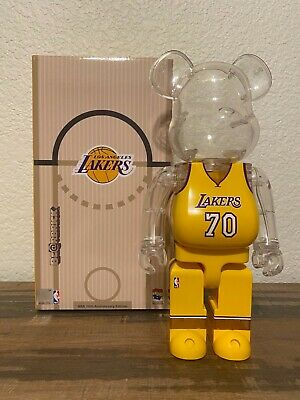 $359.99 • Buy Medicom 400% Bearbrick Milk Magazine NBA Be@rbrick Los Angeles LAKERS With Box