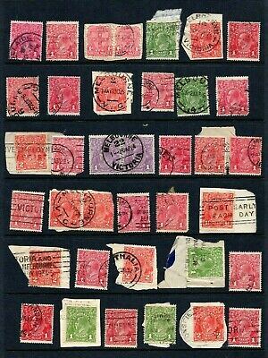 AU24.95 • Buy AUSTRALIA - KGV 1d To 2d Postmark Collection, Shades, Papers - See Scan