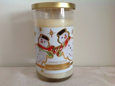 "Yankee Candle Special Holiday Edition ""Christmas Cookie"" Pillar Candle From USA • 18.95£"