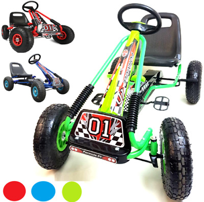 £84.95 • Buy Childrens Kids Pedal Go-Kart Ride-On Racing Car Toy Rubber Wheels Tyres