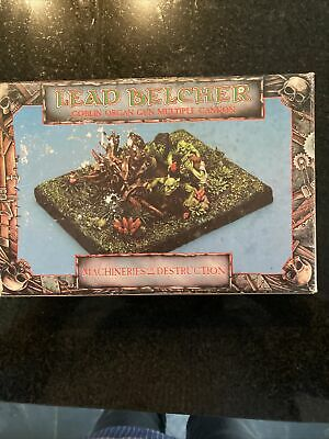 Games Workshop Citadel Miniature Lead Belcher Goblin Organ Gun Multiple Cannon • 9.50£