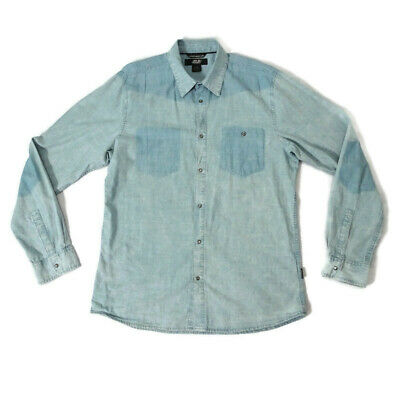 55 DSL Diesel Mens Size XL 42  Blue Chambray Denim Style Long Sleeve Shirt • 22.50£