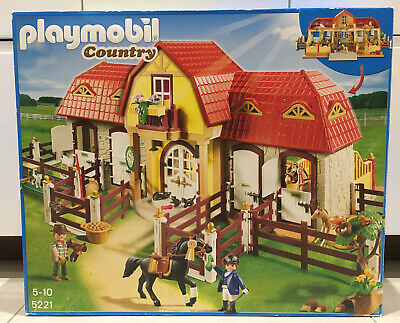 Playmobil Country Large Horse Farm And Paddock 5221 Box And Instructions • 85£