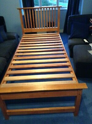 John Lewis-Willis & Gambier High Quality Solid Wood Single Bed Frame • 100£