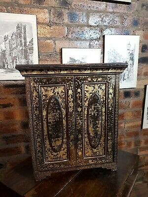 Antique Chinese, Japanese Collectors Cabinet With 5 Drawers & Key  • 325£