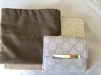 AU250 • Buy Gucci Mystic White Leather Wallet, GG Embossed