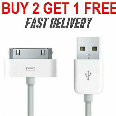 Genuine Charging Cable Charger Lead For Apple IPhone 4,4S,3GS,iPod,iPad2&1 • 1.90£