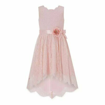 Monsoon Becky Pink High Low Dress • 45£