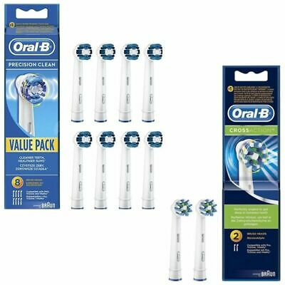 AU22.56 • Buy Genuine Oral B Electric Toothbrush Replacement Heads Precision Clean/CrossAction