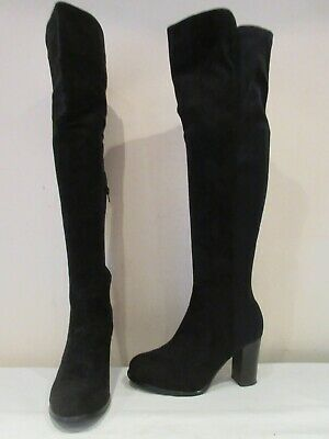 Lilley Black Stretch Over Knee High Heel Pull On Boots Uk 6 (3621) • 20£