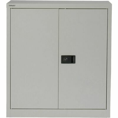 Bisley Regular Door Cupboard 1 Shelf Lockable Steel 914 X 457 X 1016 Mm Grey • 80£